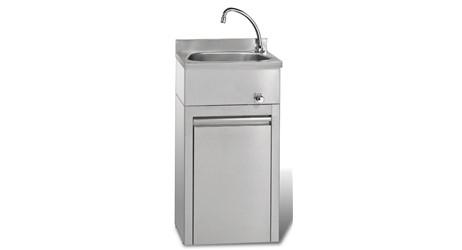 Handwaschbecken mit Unterschrank:    Dimensionen: B450 T350 H850  Höhe mit Aufkantung: H910    Gewicht 22,5kg