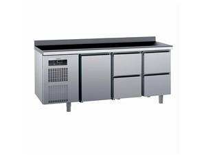 Kühlpult SAGI KUEB4A 185cm:     Abmessungen: B 1850/ T 700/ H 985    Aufteilung Türen/Laden: 1Tür,