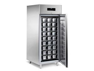 Eislagerschrank SAGI KAGL6B:     Abmessungen: B 750/ T 900/ H 2040    Fassungsvermögen/Inhalt: 54 Eis