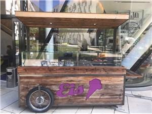 Eisverkaufswagen mobil / Eisfahrrad *Kommissionsverkauf*:   Wir verkaufen im Auftrag für einen Kunden diesen mobilen Eisverkaufswagen.