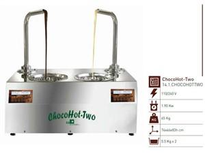 Schokoladebrunnen Chocohot Two:   ChocoHot ist eine Schokoladenformmaschine, die auf einem Gestell positionier