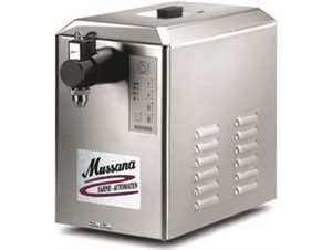 Sahnemaschine MUSSANA Boy:     Abmessungen: B 270/ T 470/ H 440    Fassungsvermögen/Inhalt: 4 Liter