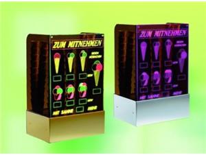 "Eistütenhalter ""Starlight"" mit LED-beleuchteter Lasergravur"