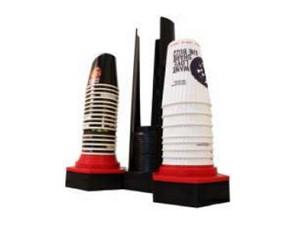 Becher-/Deckelstapler(Aufbauversion):    Modularer Becher-/Deckelstapler, Thekenaufbau, Grundmodul beeinhaltet 2 Stk