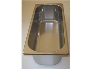 Eiswannen INOX:     Abmessungen:     Fassungsvermögen/Inhalt: 5L normal (360x165x120H)